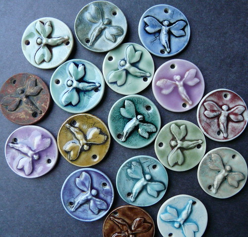Little fairies porcelain jewelry components