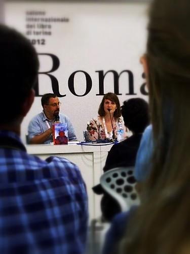 SalTo12 12MAY (15) Dan Lungu e Ileana M. Pop - Salone Internazionale del Libro Torino 2012