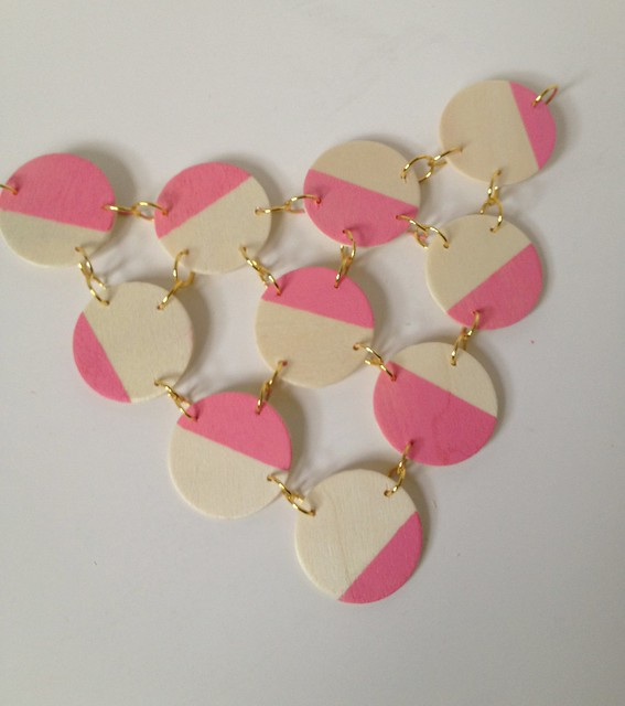Pink + Wood Bib Necklace 8