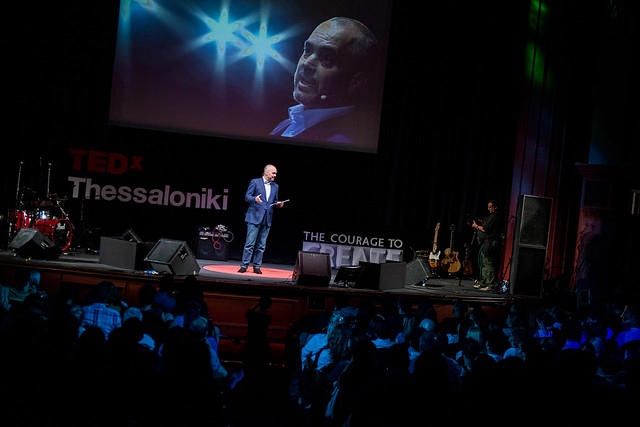 Edi Rama on stage at TEDx Thessaloniki. Photo by Duncan Davidson, licensed CC BY-NC