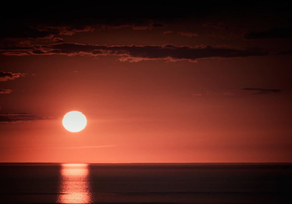 Coucher de soleil sur les Caps