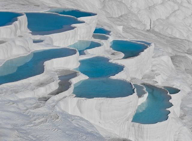 Almost like another planet... Pamukkale blues in Turkey (UNESCO world heritage site) - Can you help me to get 1100 faves? ;-)