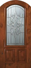 New Orleans Decorative Glass Arch Top Arch Lite Knotty Alder Entry Door  Tall 80 E06142A-G