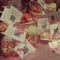 Pink and white cake pops
