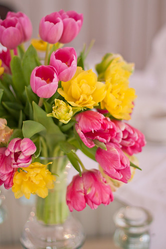 Tulips on the tables