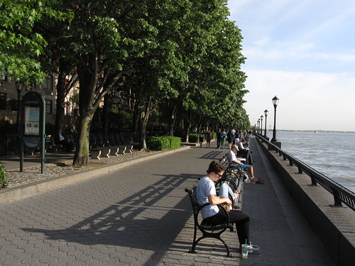 The Esplanade of Battery Park City, Manhattan, New York