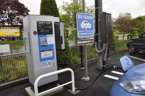 群馬県 みなかみ町 道の駅 たくみの里の電気自動車用急速充電器