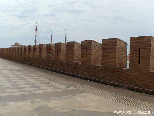 walkway on the defense wall in Civitavecchia
