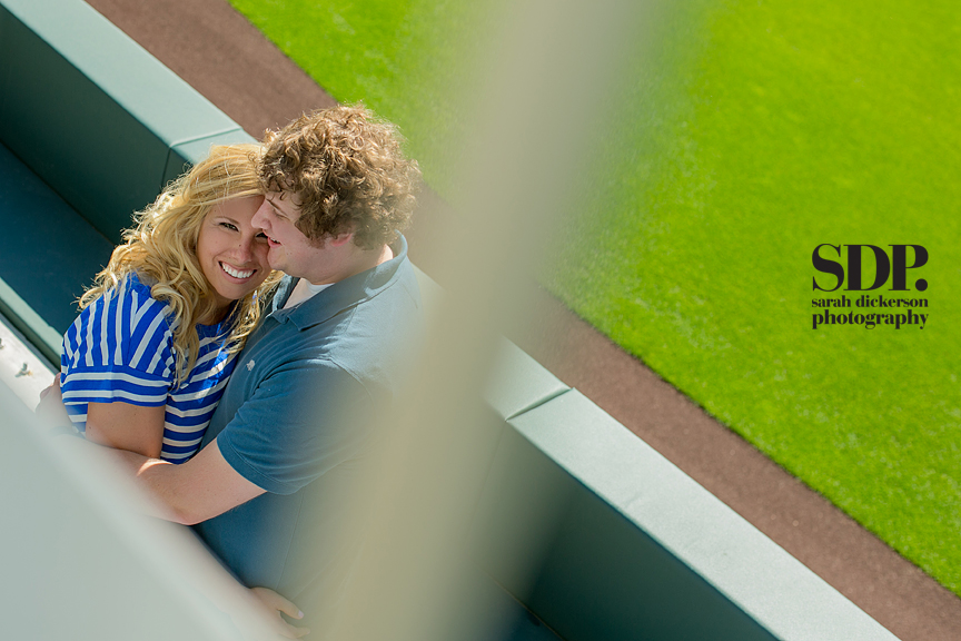 Kauffman Stadium engagement photographers