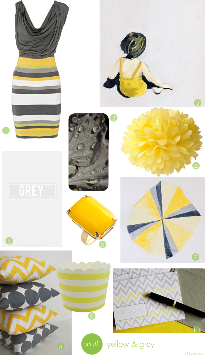 {crush} yellow and grey