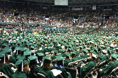 <p>A bird's-eye view of UH Manoa's undergraduate class of 2012 during commencement on May 12</p>
