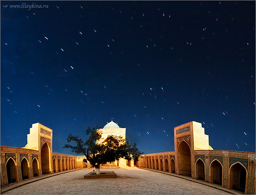 morning sky night sunrise star time mosque trail uzbekistan bukhara khiva