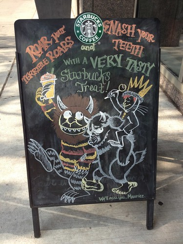 Maurice Sendak tribute at Starbucks in Toronto