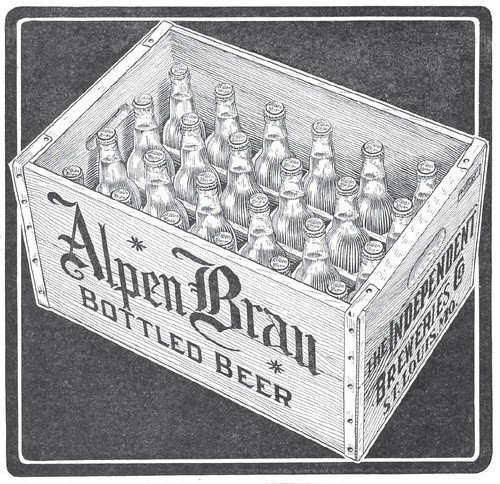 1916 Case Alpen Brau The Independent Breweries Co., St. Louis, MO by carlylehold