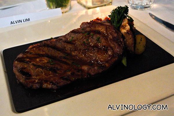 My juicy slab of beef