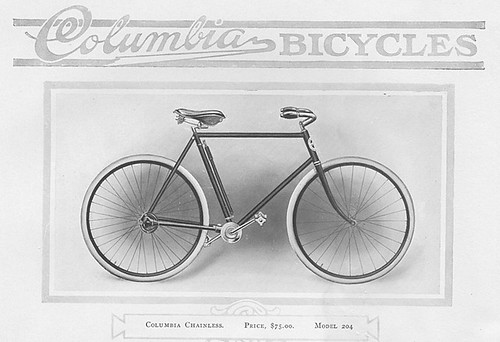 Columbia Basic 1912 Shaft Drive Bicycle