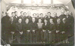 POW prisoners - Werner Heese end right middle row