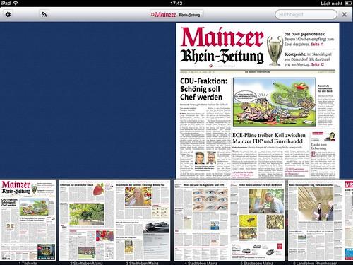 iPhone-/iPad-App der Rhein-Zeitung