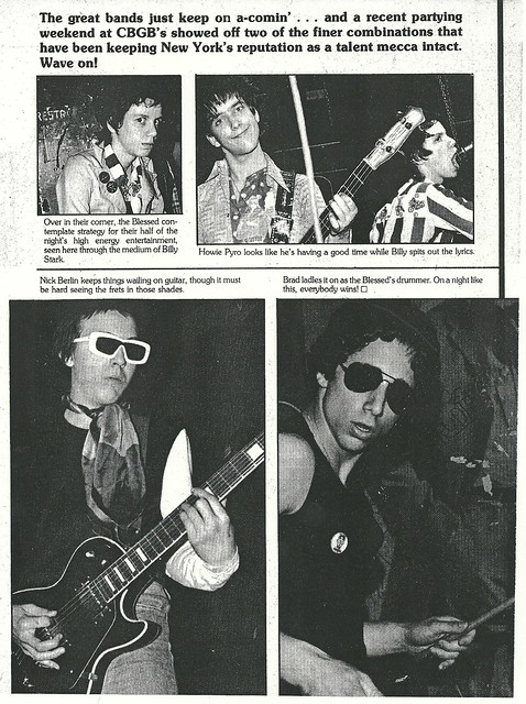 (Undated) Rock Scene Magazine (The Blessed at CBGB)