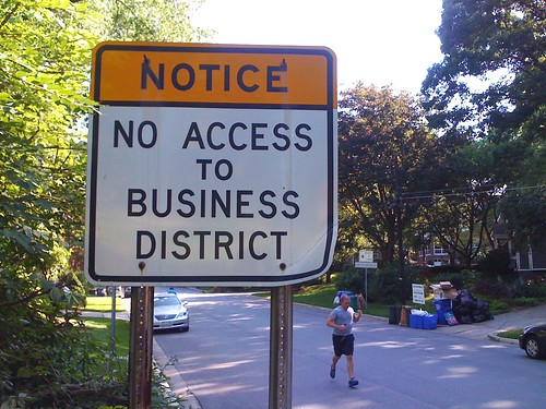 """No Access to Business District,"" Ellsworth & Dale"