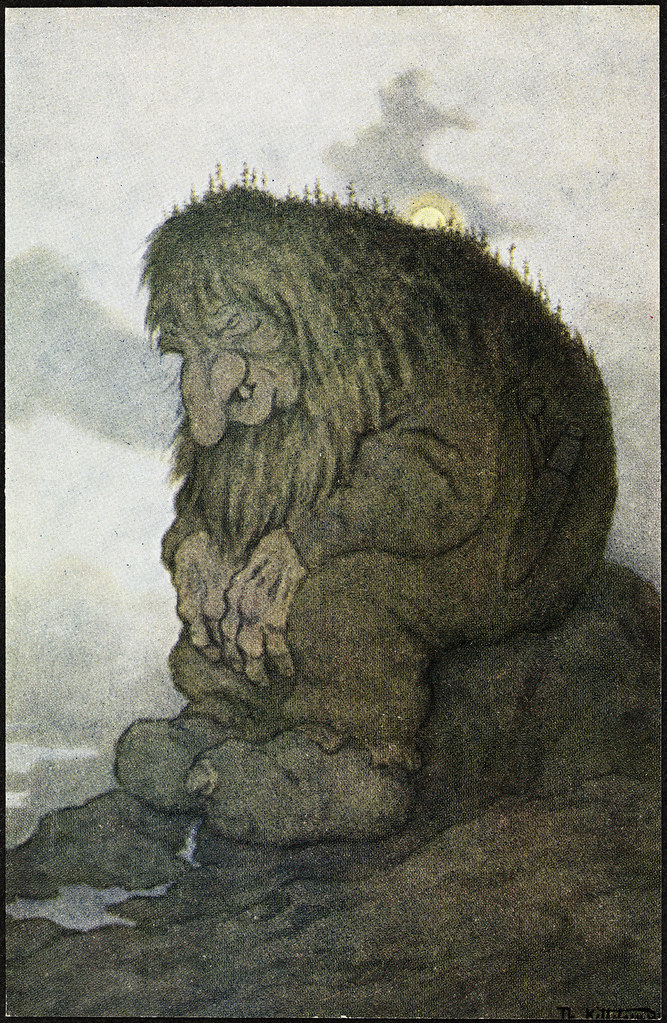 Theodor Kittelsen - The Troll Who Wanders About His Age, 1911
