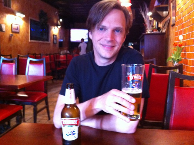 Having a Żywiec at Chopin on Roncesvalles