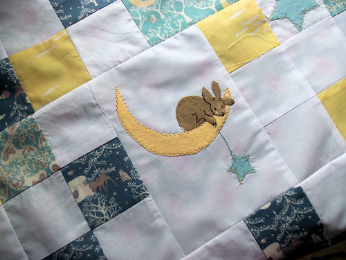 Moon Bunny Quilt in progress (2)