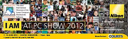 Nikon's PC Show 2012 promotions for compact digital cameras, DSLRs, MILs, lenses, and accessories.