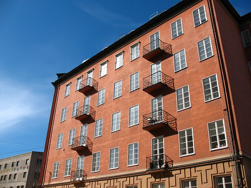 typical Stockholm apartment building