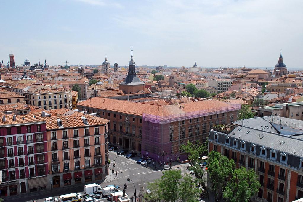 View from the top of Catedral de Nuestra Señora de la Almudena, Madrid, Spain