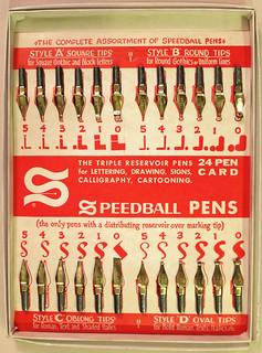 Speedball 24 Pen Card