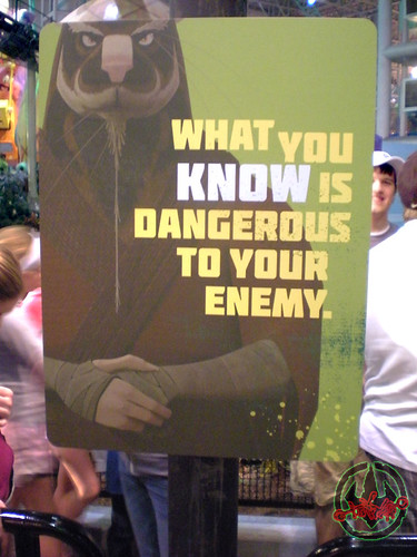 TEENAGE MUTANT NINJA TURTLES - 'SHELL SHOCK' ride : SPLINTER SAGE SIGNAGE vi (( 2012 ))