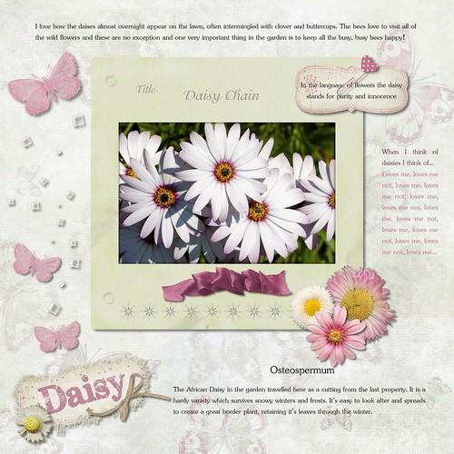 My Scrapbook Diary Garden Journal Daisy