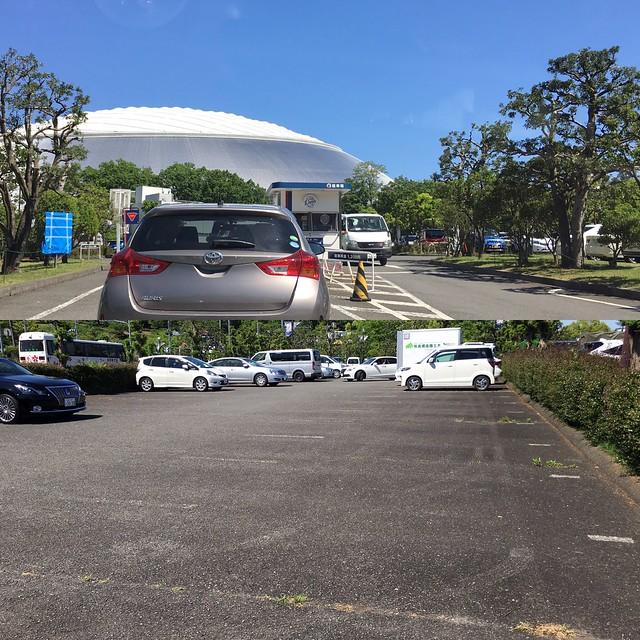 内覧会の日、駐車場の様子