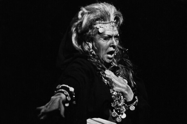 Fiorenza Cossotto as Azucena in the Covent Garden Opera Company revival of Il trovatore at the Royal Opera House, Covent Garden © 1973 Royal Opera House
