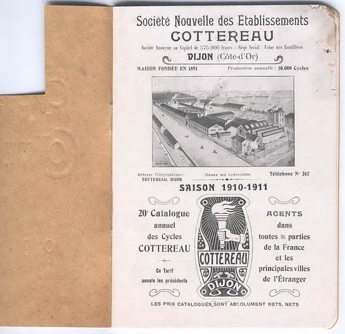 1910-11. Catalogue Cottereau