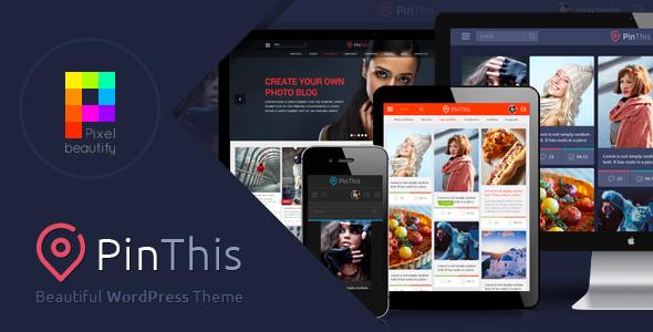 PinThis v1.6.1 – Pinterest Style WordPress Theme