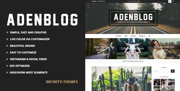 Aden v2.8 - Responsive WordPress Blog Theme