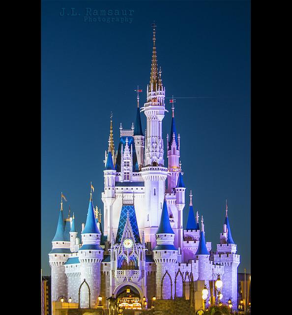 Cinderella's Castle at Dusk- Disney's Magic Kingdom