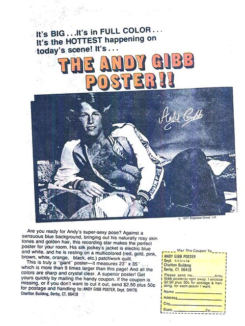 Andy Gibb poster mail offer ad