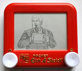 Newt Gingrich etch a sketch