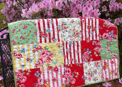 Flower sugar baby quilt