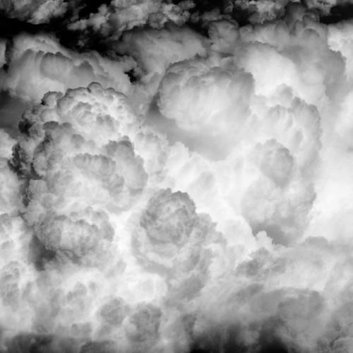無料写真素材, 自然風景, 雲, モノクロ