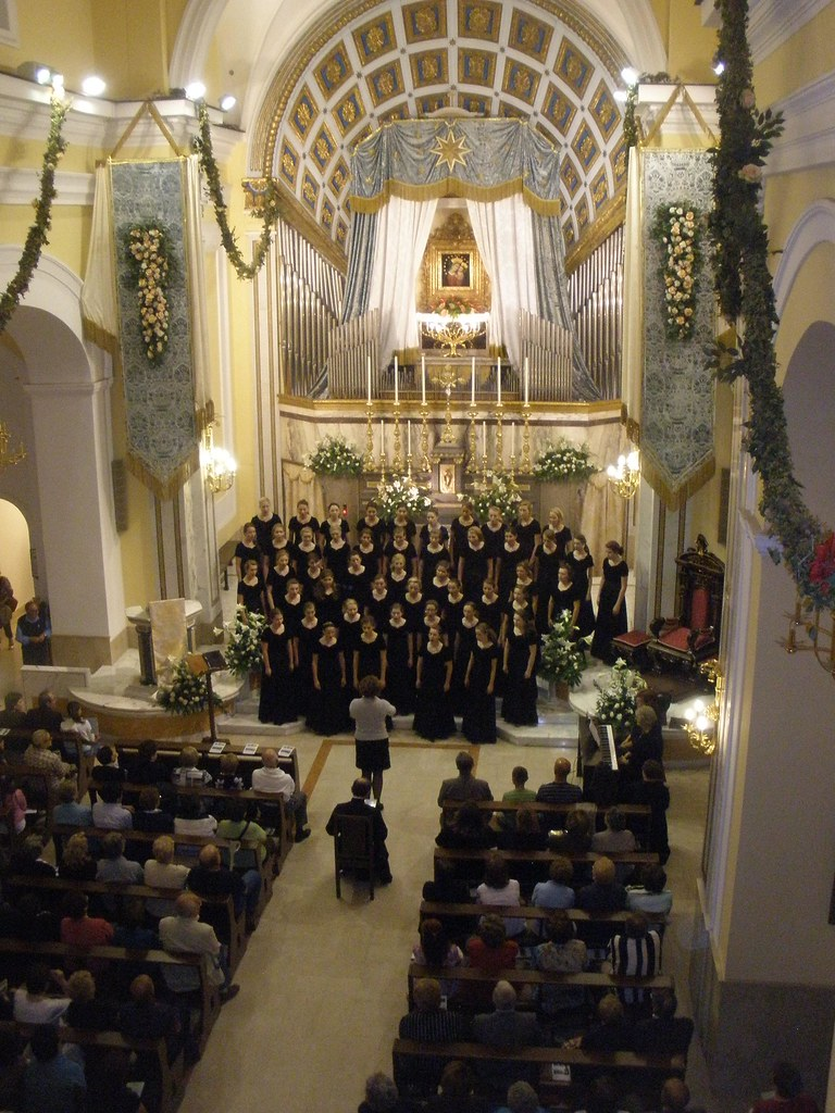 Allegro Community Chidren's Choir performs in the Santuario del Buon Consiglio in Torre del Greco