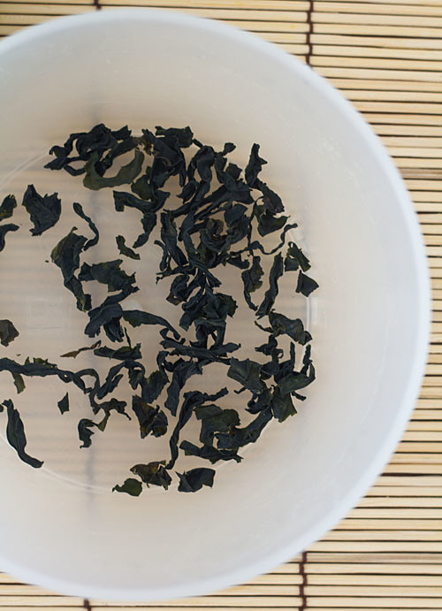 dried wakame before reconstituting