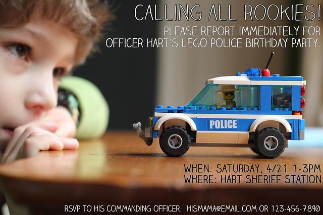 generic police invite