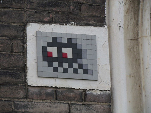Space invader up close