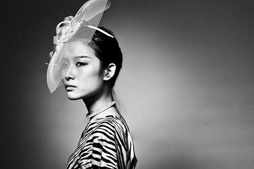 無料写真素材, 人物, 女性  アジア, モノクロ, ベトナム人