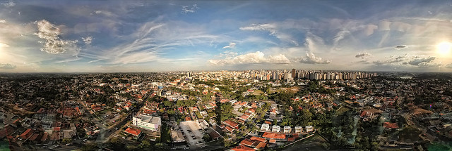Curitiba / Telecom Tower view (fisheye panorama)
