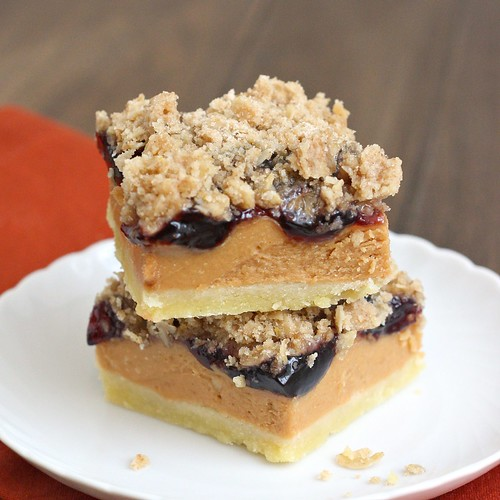 Peanut Butter and Jelly Bars | Tracey's Culinary Adventures
